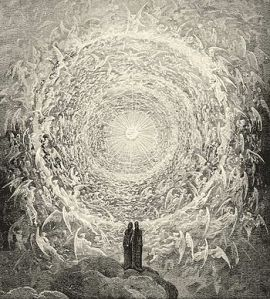 Dante e Beatrice contemplano l'Empireo (canto XXXI)